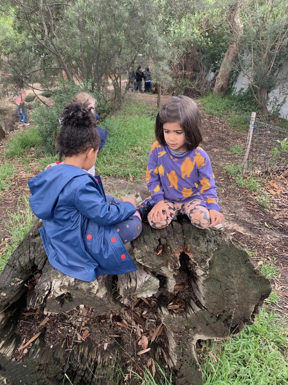 Enjoying time at bush school