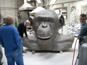 LR bronze ape