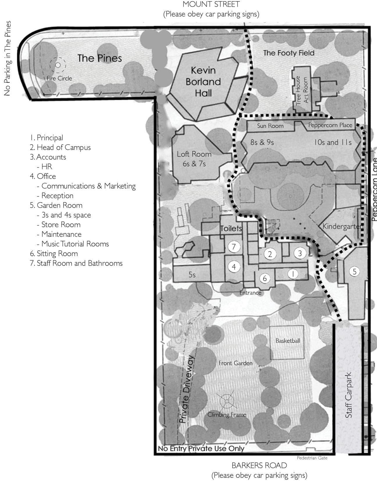 Arlington Campus Map