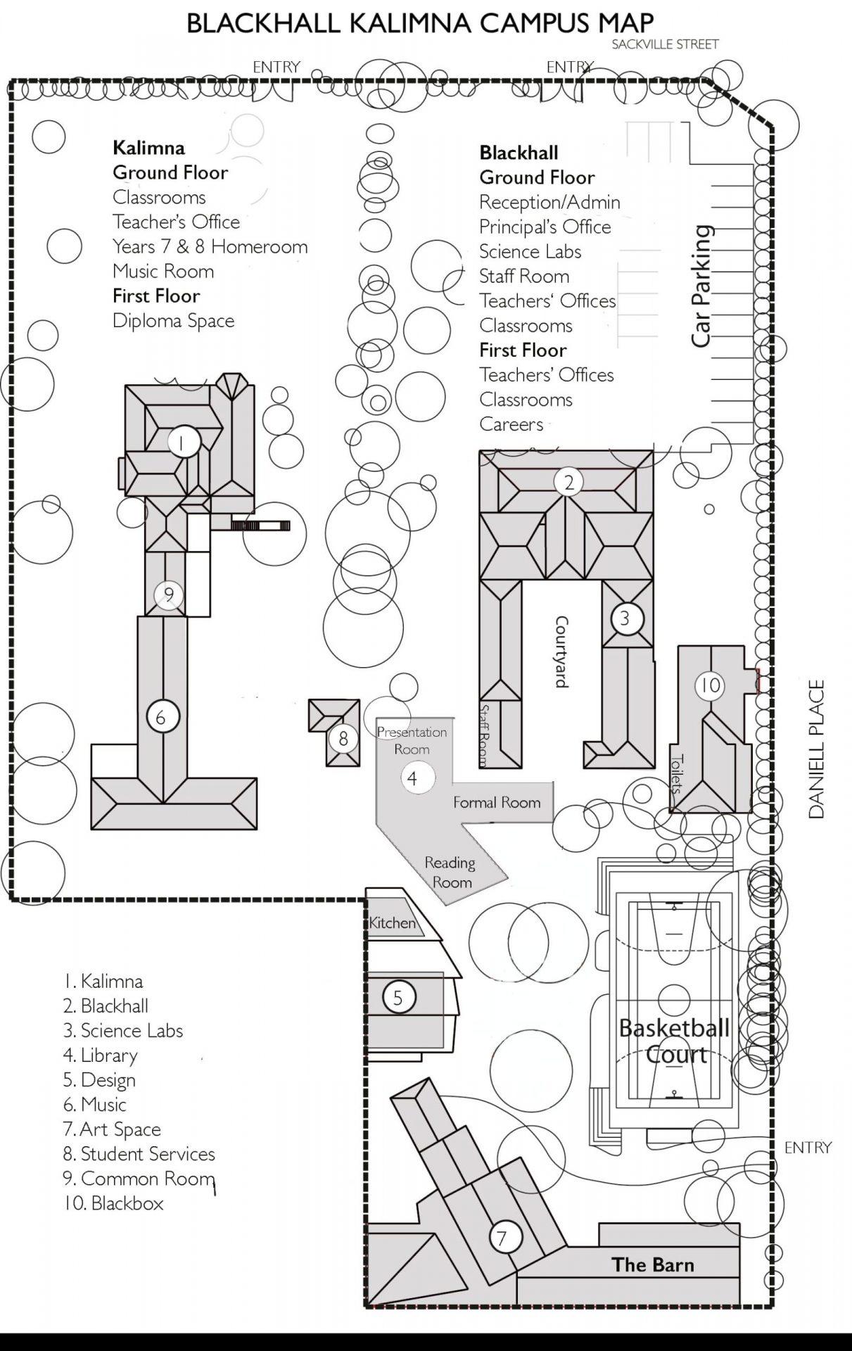 BK Campus Map
